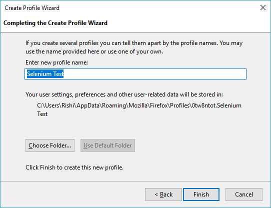 How to create and use Firefox Profile in LEAPWORK